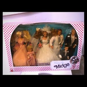 Wedding Party Midge Gift Set 1990 Mattel